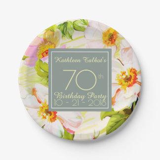 Prato De Papel Placa de papel da festa de aniversário do 70 das
