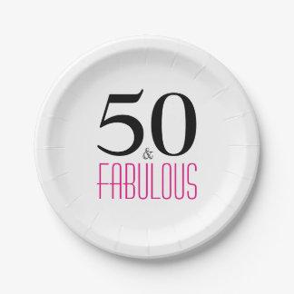 Prato De Papel Placa de papel da festa de aniversário elegante do