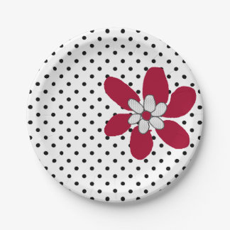Prato De Papel Placa de papel da flor de Purr*fect do gatinho de