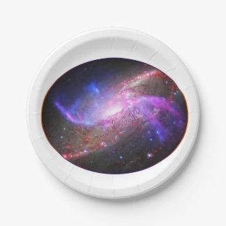 Prato De Papel Placa de papel da galáxia uma