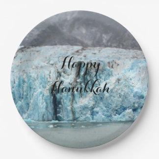 Prato De Papel Placa de papel da geleira azul longa