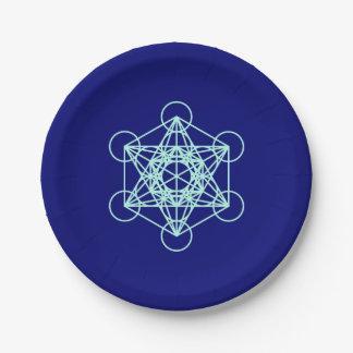 Prato De Papel Placa de papel da geometria sagrado de Metatron do
