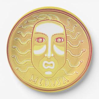 Prato De Papel Placa de papel da moeda do Medusa