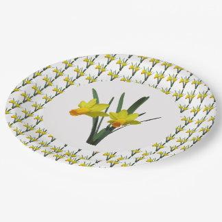 Prato De Papel Placa de papel - Daffodils