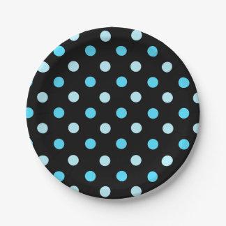 Prato De Papel Placa de papel das bolinhas azuis