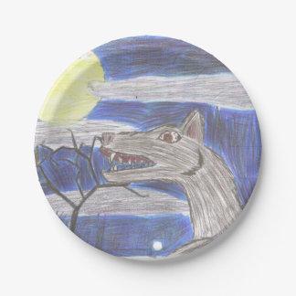 Prato De Papel Placa de papel de arte do miúdo do homem-lobo
