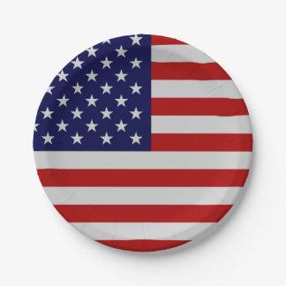 Prato De Papel Placa de papel de bandeira americana