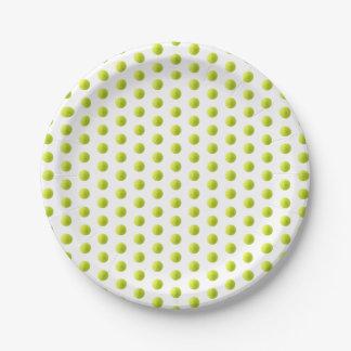 Prato De Papel Placa de papel de bola de tênis