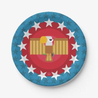 Prato De Papel Placa de papel de Eagle da liberdade (azul) -