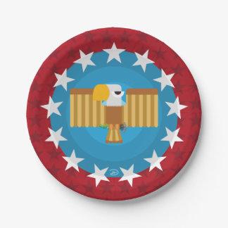 Prato De Papel Placa de papel de Eagle da liberdade (vermelho) -