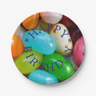 Prato De Papel Placa de papel de feliz aniversario de feijões de