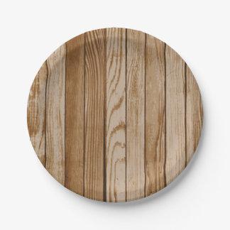 Prato De Papel Placa de papel de madeira