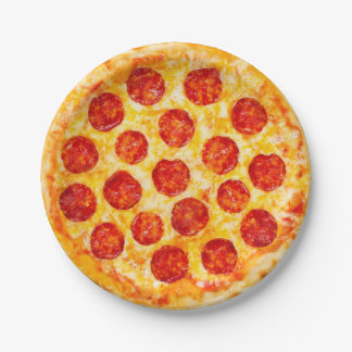 Prato De Papel placa de papel de pizza de pepperoni para esse