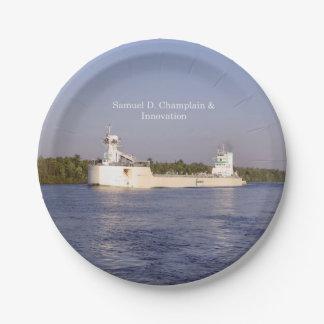 Prato De Papel Placa de papel de Samuel D. Champlain & de