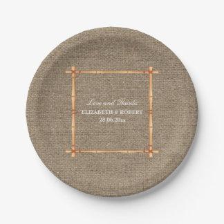 Prato De Papel Placa de papel de serapilheira rústica do quintal