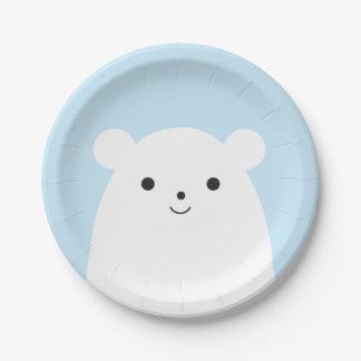 Prato De Papel Placa de papel de urso polar do Peekaboo