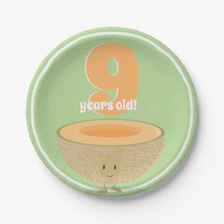 Prato De Papel Placa de papel do Cantaloupe | do aniversário