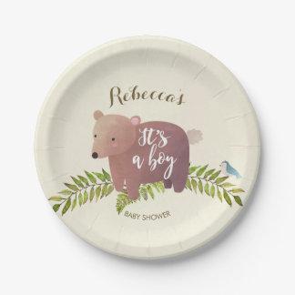 Prato De Papel placa de papel do chá de fraldas do urso da