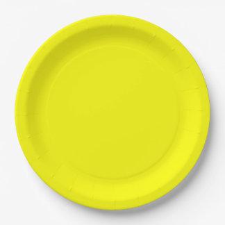 Prato De Papel Placa de papel do comensal amarelo
