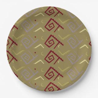 Prato De Papel Placa de papel do design asteca do nativo