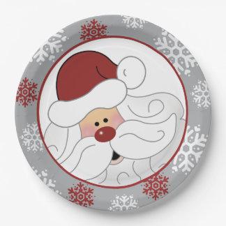 Prato De Papel Placa de papel do feriado bonito de Papai Noel