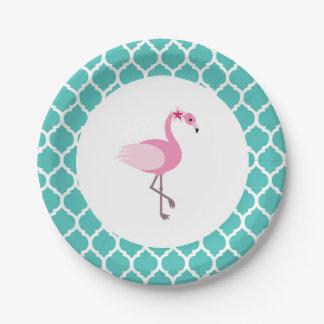 Prato De Papel Placa de papel do flamingo
