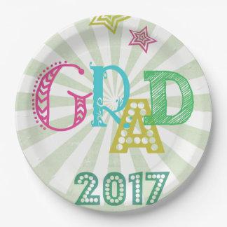 Prato De Papel Placa de papel do formando 2017 para celebrações