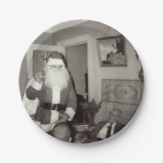 Prato De Papel Placa de papel do Natal antiquado do papai noel
