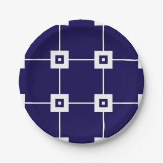 Prato De Papel Placa de papel do no. 4 azuis do esmagamento