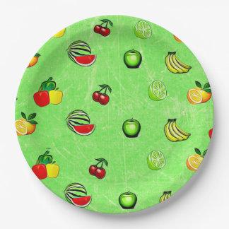 Prato De Papel Placa de papel do partido da comida dos gráficos