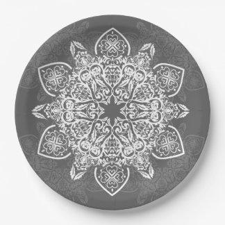 Prato De Papel Placa de papel do teste padrão | das cinzas e do