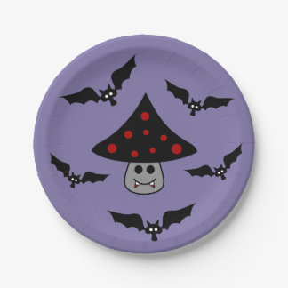 Prato De Papel Placa de papel do vampiro do cogumelo