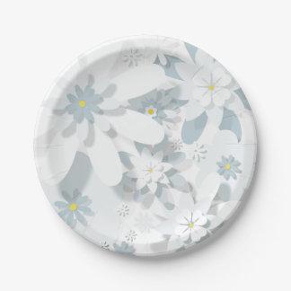 Prato De Papel Placa de papel floral
