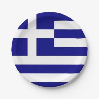 Prato De Papel Placa de papel patriótica com a bandeira da