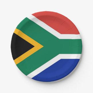 Prato De Papel Placa de papel patriótica com a bandeira de África