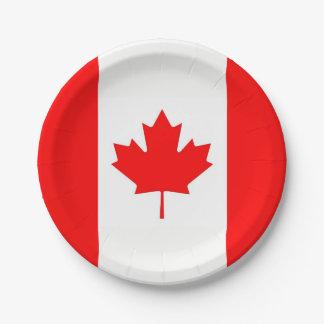 Prato De Papel Placa de papel patriótica com a bandeira de Canadá