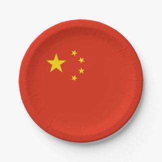 Prato De Papel Placa de papel patriótica com a bandeira de China