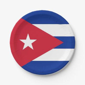 Prato De Papel Placa de papel patriótica com a bandeira de Cuba
