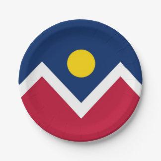 Prato De Papel Placa de papel patriótica com a bandeira de Denver