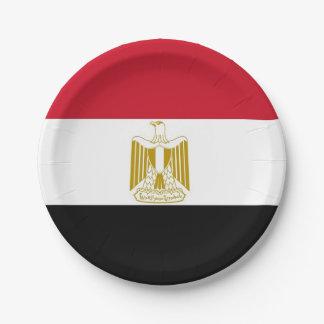 Prato De Papel Placa de papel patriótica com a bandeira de Egipto