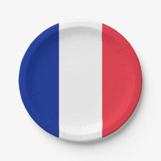 Prato De Papel Placa de papel patriótica com a bandeira de France