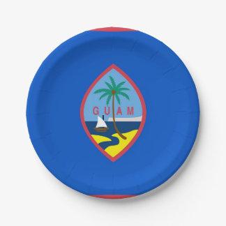 Prato De Papel Placa de papel patriótica com a bandeira de Guam