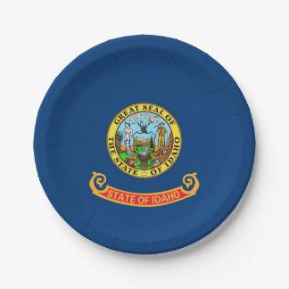 Prato De Papel Placa de papel patriótica com a bandeira de Idaho