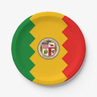 Prato De Papel Placa de papel patriótica com a bandeira de Los