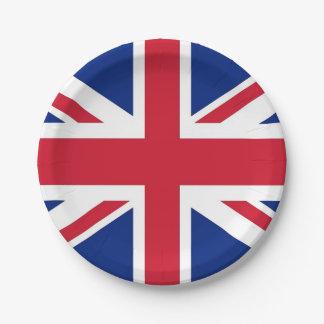 Prato De Papel Placa de papel patriótica com a bandeira de Reino