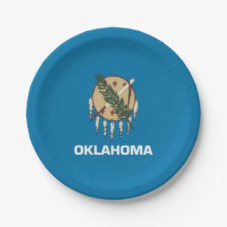 Prato De Papel Placa de papel patriótica com bandeira de Oklahoma