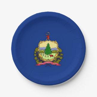 Prato De Papel Placa de papel patriótica com bandeira de Vermont
