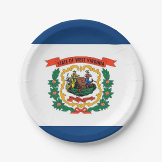 Prato De Papel Placa de papel patriótica com bandeira de West