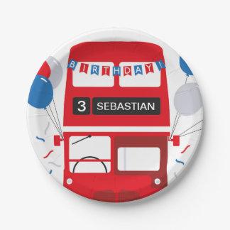 Prato De Papel Placa de papel personalizada do ônibus de Londres