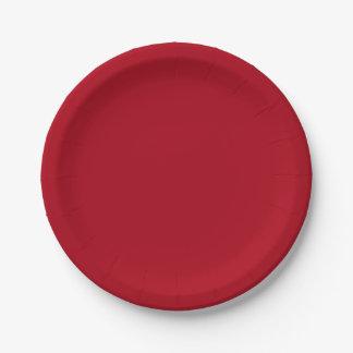 Prato De Papel Placa de papel vermelha do Natal